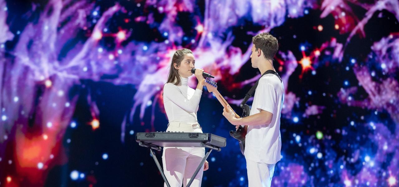 Zala & Gasper Slovenia 2019 rehearsal