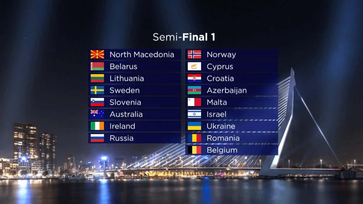 Draw Eurovision 2020 SF1