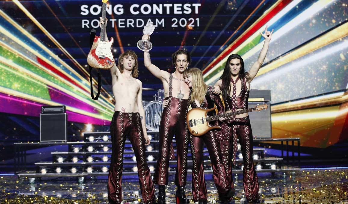 Maneskin Italy Eurovision 2021 Winner 2